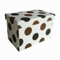 Buy cheap Faux Leather Storage Box with Set of 2 Sizes, Various Colors Available from wholesalers