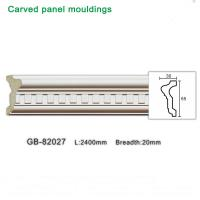Buy cheap 2400mm White PU carving Panel moulding ceiling corner for interior decoration from wholesalers