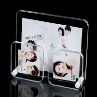 Buy cheap Office Clear plastic photo frames Lightweight with 3 picture holders from wholesalers