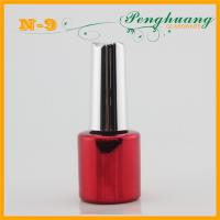 Buy cheap 3ml - 12ml Red UV Plating Nail Polish Glass Containers with Silver Caps from wholesalers