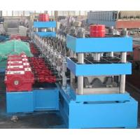 Buy cheap Galvanized Steel Three Waves Motorway Guard Rail Roll Forming Equipment with Gearbox Driving from wholesalers