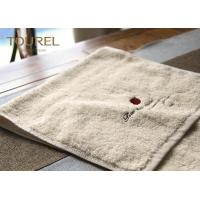 Buy cheap 100% Cotton Original Color Hotel Plain Towel Set with Embroidery Logo from wholesalers