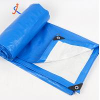 Buy cheap Blue white PE poly plastic woven tarpaulin roll cross lamination plastic sheet for car cover from China from wholesalers