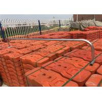 Buy cheap SYDNEY temporary fence panels 210cm height x 240cm width With orange RAL2009 color temp fence block free standing fence from wholesalers