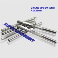 Buy cheap Free Shipping 4*25MM 2 Straight Flutes CNC Router Bits,Carbide End Mill,Woodworking Bit, 2D Engraving Cutting on PVC MDF from wholesalers