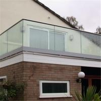 Buy cheap High quality U channel base tempered glass deck railing / U profile frameless glass railing from wholesalers