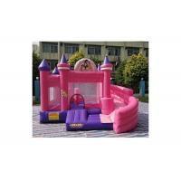 Buy cheap 0.55mm PVC Pink Cinderella Princess Inflatable Bouncer Combo Commercial Grade from wholesalers