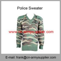 Buy cheap Wholesale Cheap China Military Wool Acrylic Polyester Army Camo Police Jumper from wholesalers