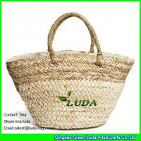Buy cheap LUDA unusual handbags natural shoulder hobo bags seagrass mixed straw beah bag from wholesalers