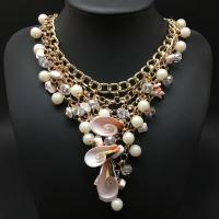 Buy cheap Fashion pearl  jewelry choker necklace big shell Vintage Collar Statement necklace from wholesalers