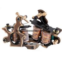 Buy cheap Exquisite Coil Tattoo Machine Pure Brass Gun Type Liner / Shader Bronze Color from wholesalers