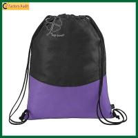 Buy cheap Cheap Custom Logo Simple String Bags Nylon Drawstring Backpack Bag from wholesalers
