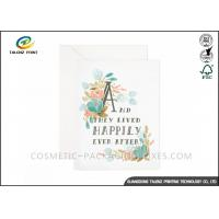 Buy cheap Customized Design Paper Greeting Cards Film Lamination Coating Wedding Party Card from wholesalers