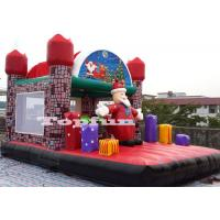 Buy cheap Merry Christmas Inflatable Santa Claus Bouncy Castle For Xmas Decoration 20ft from wholesalers