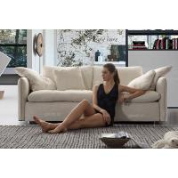 Buy cheap White Fabric Modern Fabric Sofas With Solid Wood Frame , Soft Seat Sofa Set , Luxury Sofa Furniture OEM ODM from wholesalers