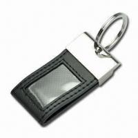 Buy cheap Photo Frame Keychain, Made of Zinc Alloy and Leather, Customized Logos, Sizes Accepted from wholesalers
