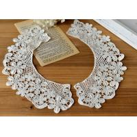 Buy cheap Embroidered Water Soluble Floral Lace Collar Applique For Lady Garment 100% Cotton from wholesalers