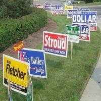 Buy cheap Full Color Printing Yard Signs , 96 X 48 Lawn Signs from wholesalers