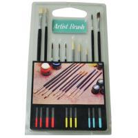 Fine Artist Painting Brushes Set 15pcs Or 10pcs Wooden / Plastic Handle