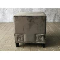 Buy cheap Velvet Fabric Bedroom Ottoman Bench Cube For End Bed , Grey Color from wholesalers