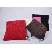 Buy cheap Rumpled fake fur decorative cushions and pillows with woven cover and 400g filling from wholesalers