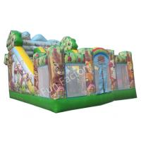 Buy cheap 0.55MM PVC Double Stitching Inflatable Bouncy Castle With Slide Playground from wholesalers