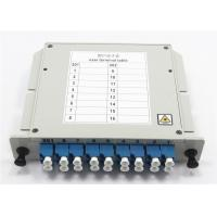 Buy cheap Module Type 1x8 Rack Mount PLC Splitter Excellent Environmental / Mechanical Stability from wholesalers