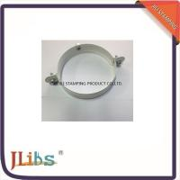 Buy cheap Galvanized Metal Supporting Round Clamp Down Pipe Clamps Riveted Fixed Screw from wholesalers