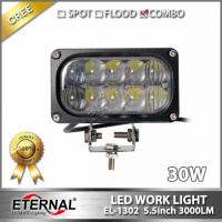 Buy cheap 30W led work light 5x2 rectangle driving headlight spot flood in one for offroad 4x4 truck tractor trailer working lamp from wholesalers