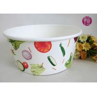 43oz Food Grade PE Coated Low Leakage Disposable Paper Bowls / Enamel Paper