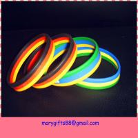 Buy cheap novelty design adjustable silicone wristband from wholesalers