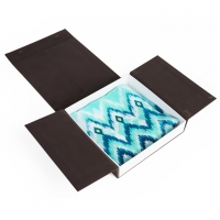 Buy cheap Luxury Black Flip Top Hijab Gift Box Packaging With Custom Logo from wholesalers