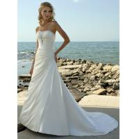 Buy cheap Elegant A - line Strapless Beach Wedding Dress / Bridal Gown with Beadings from wholesalers