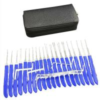 Buy cheap 20pcs Auto Common Locksmith Tool Set Blue Silver Color Plastic Brass Material product