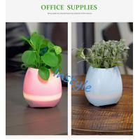 Buy cheap High quality Smart Wireless Bluetooth Portable Office Supply Flower Plant Pot Speakers with LED Decoration from wholesalers