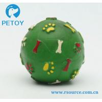 China Bone and paw printing Latex squeaky dog ball toy on sale