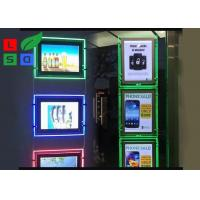 Portrait View LED Crystal Light Box RGB Color Background With Cable System