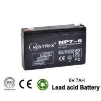 Buy cheap Electric power system Sealed rechargeable lead acid battery 6V 7ah for Toy & Baby Carrier batteries from wholesalers