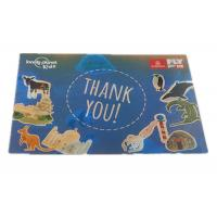Buy cheap Colorful Thank You Style 3D Lenticular Stickers Offset Printing from wholesalers