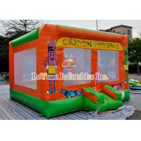 Buy cheap Crayon Playland Inflatable Bouncy Castle / Indoor Moonwalk For Kids from wholesalers