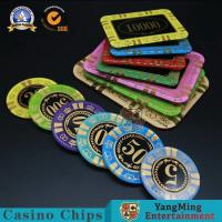 Buy cheap 13.5g Rectangular Poker Chips / Gambling Table Plastic RFID UV Light Casino Poker Club VIP Chips from wholesalers