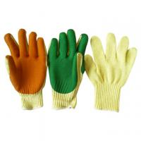 Buy cheap nylon lining green nitrile latex coated foaming safety working glove from wholesalers