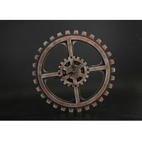 "Buy cheap Wheel Gear Shape 15""x15"" Decorative Clocks For Home In Rustic Rust Finishing from wholesalers"
