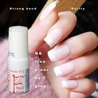 Buy cheap 3g clear HQ Free(below 200ppm)Nail glue cyanoacrylate nail art for sticking fake/artificial nail from wholesalers