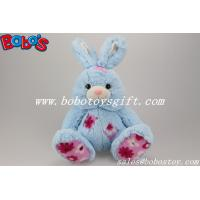 Buy cheap 9.5 Cuddle Blue Rabbit Stuffed Toy With Flower Fabric Patch from wholesalers