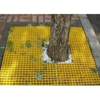 Buy cheap Molded Fiberglass Plastic Floor Grating For Tree Yellow Color SGS Approval from wholesalers
