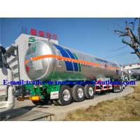 Buy cheap Professional 58.5m3 Three Axle LPG Semi Trailer , LPG Transport Trailer from wholesalers