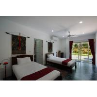 Buy cheap Holiday Villa room Furniture used Rubber wooden Double bed and Single Couch with Cabinet from wholesalers