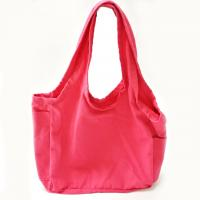 Buy cheap Pink 12oz Reusable Shopping Bags / Cotton Canvas Tote Bags with Customized Logo product