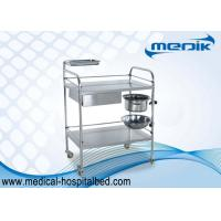 Buy cheap Protection Guardrails Stainless Steel Instrument Trolley With One Drawer One Bucket from wholesalers